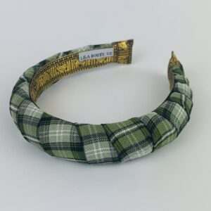 Lila Sage Plaid Padded Headband