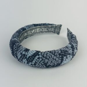 Lila Blue Snakeskin Padded Headband