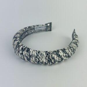 Lila Snakeskin Padded Headband