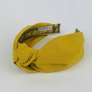 Lila Mustard Turban Headband