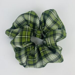 Lila Sage Plaid Scrunchie