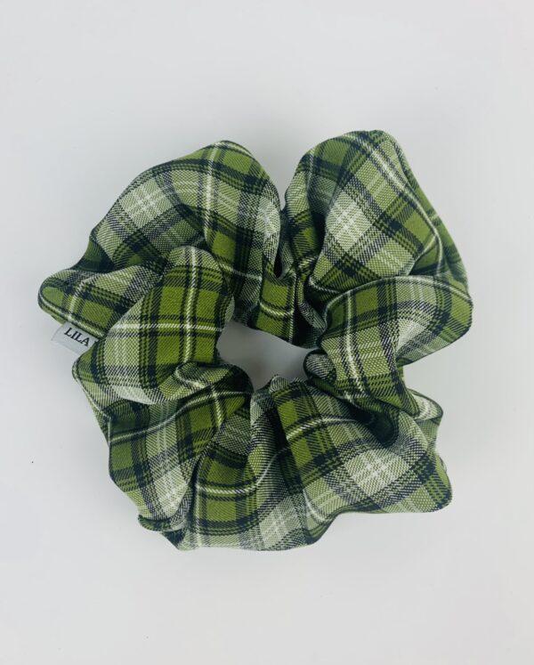 Lila Sage Plaid Scrunchie