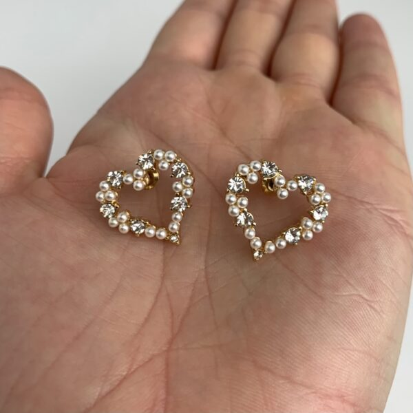 Lila White Heart Earrings
