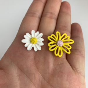 Lila Yellow Daisy Earrings