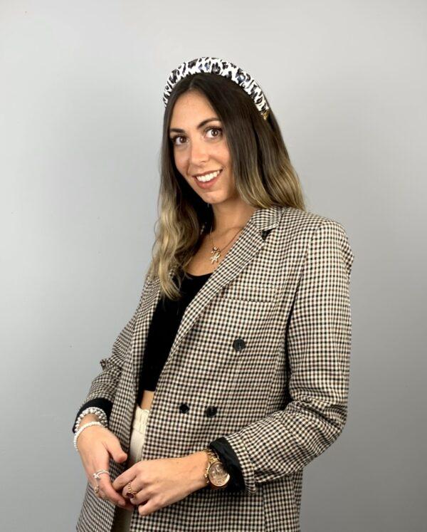 Lila Leopard Print Padded Headband