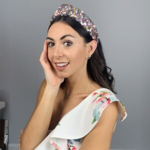 Lila Carnival Sequin Turban Headband
