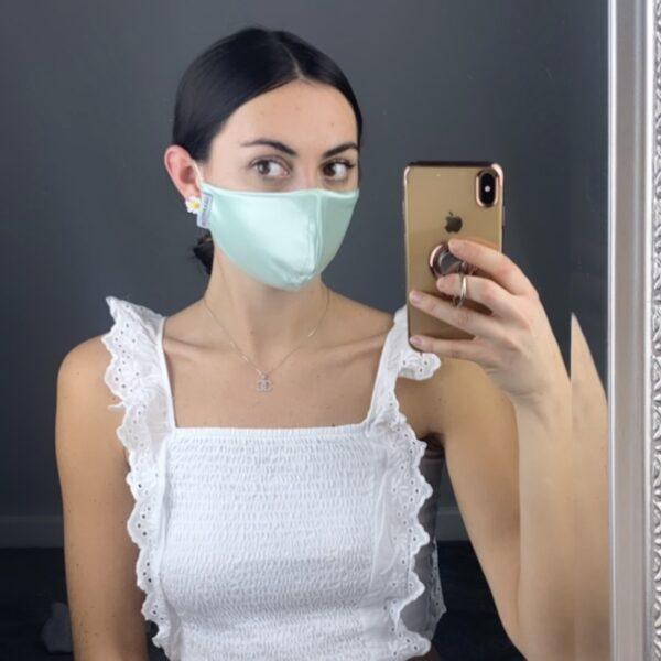 Lila Mint Satin Face Mask