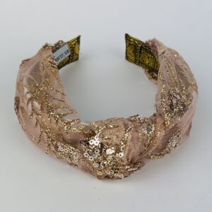 Lila Gold Glitz Turban Headband
