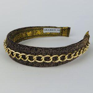 Lila Gold Chain Classic Headband