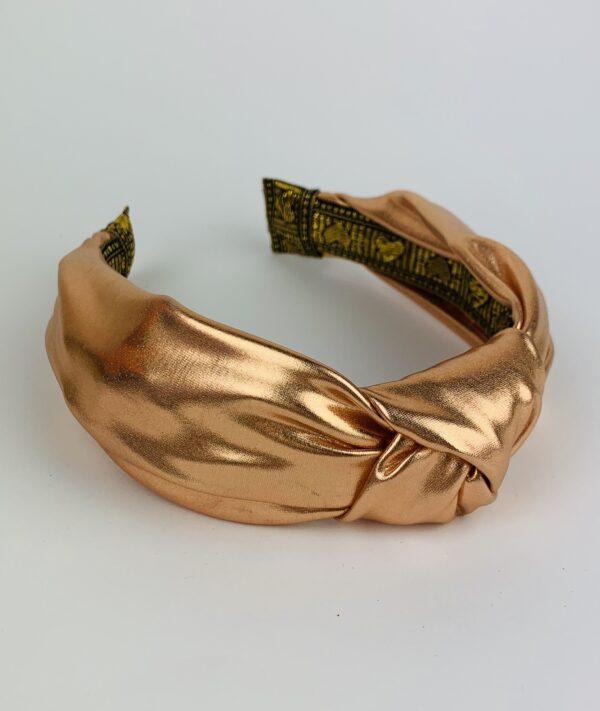 Lila Shimmer Turban Headband