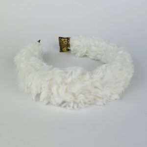 Lila White Teddy Padded Headband
