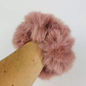 Lila Dusty Pink Fluffy Scrunchie