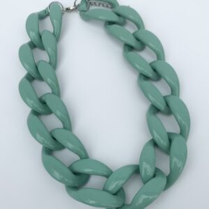 Lila Mint Chunky Chain Necklace