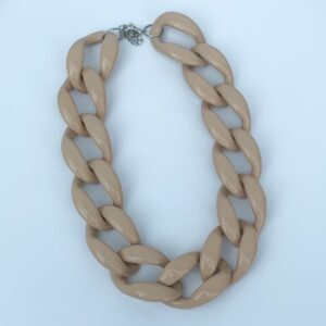Lila Nude Chunky Chain Necklace