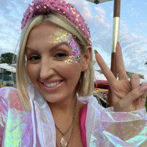 Lila Pink Sequin Turban Headband
