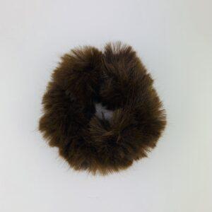 Lila Brown Fluffy Scrunchie