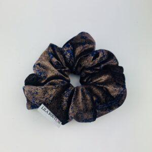Lila Bronze Marble Scrunchie