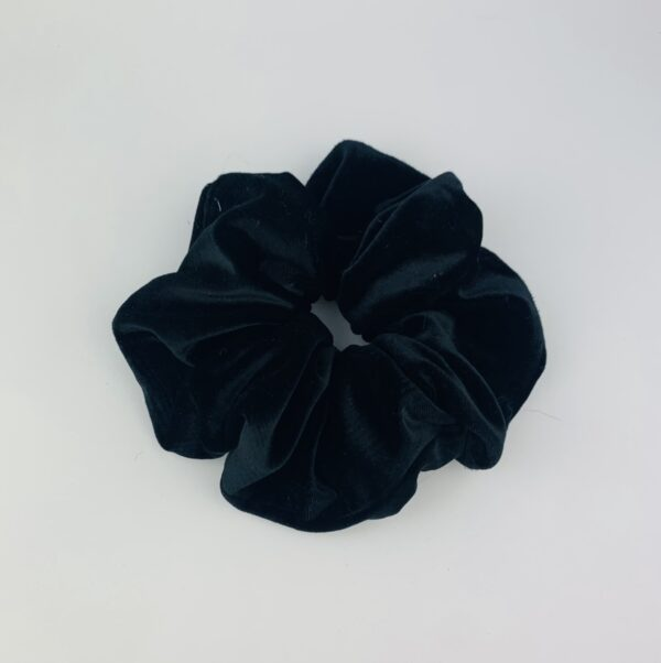 Lila Black Velvet Scrunchie