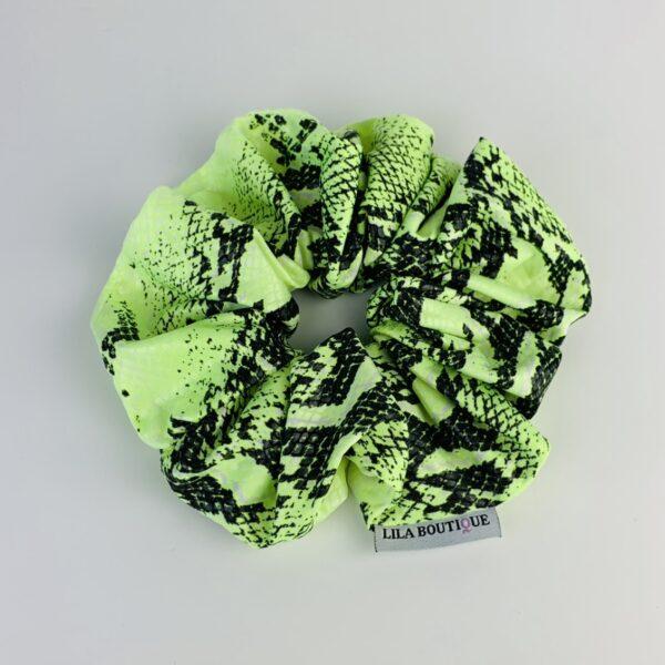 Lila Neon Snakeskin Scrunchie