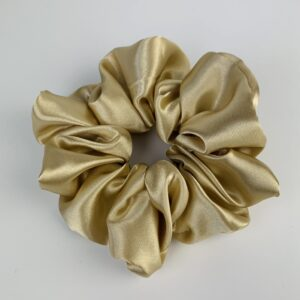 Lila Gold Satin Scrunchie