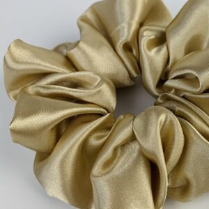 Lila Gold Satin Scrunchie