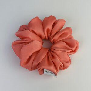 Lila Apricot Satin Scrunchie