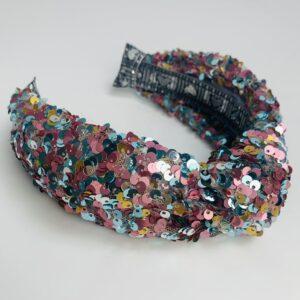 Lila Carnival Sequin Turban Headband