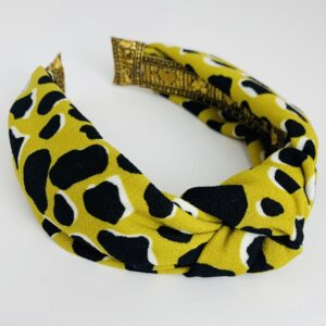 Lila Mustard Print Turban Headband