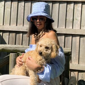 Lila Blue Gingham Bucket Hat