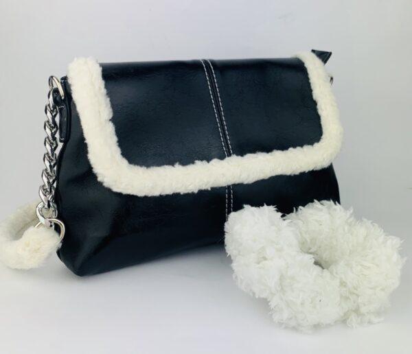 Lila Teddy Bag & Scrunchie Set