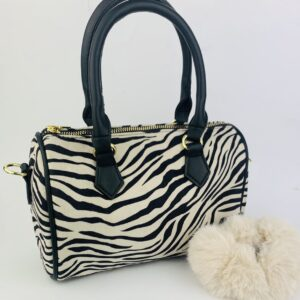 Lila Zebra Bag & Scrunchie Set