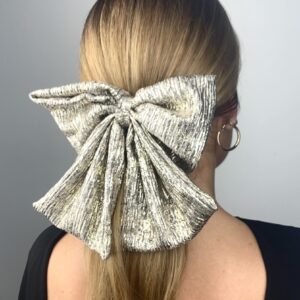 Lila Metallic Gold Bow Hair Clip