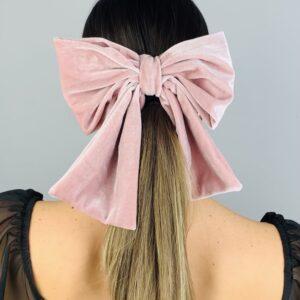 Lila Baby Pink Velvet Hair Clip