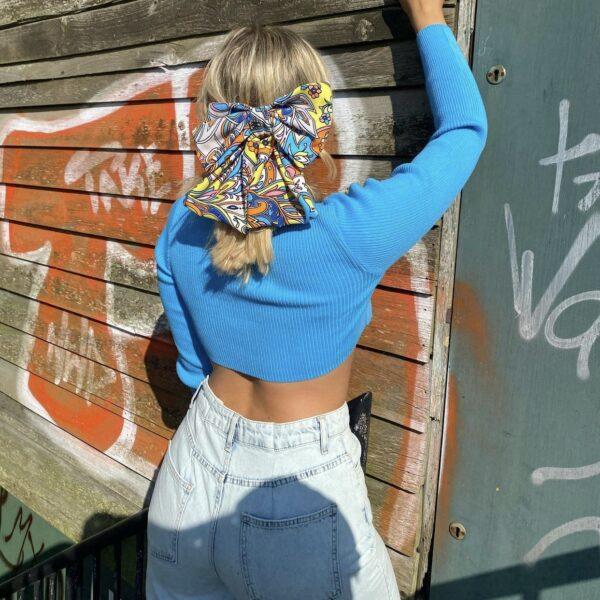 Lila Pucci Bow Hair Clip