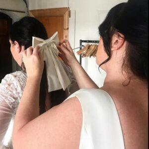 Lila White Bow Hair Clip