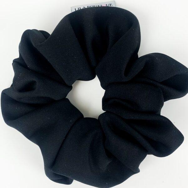 Lila Black Scrunchie