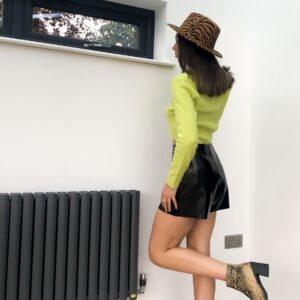 Lila Zebra Fedora Hat