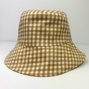 Lila Houndstooth Bucket Hat