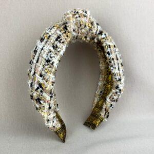 Lila Tweed Turban Headband
