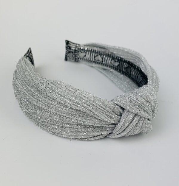 Lila Silver Sparkle Turban Headband