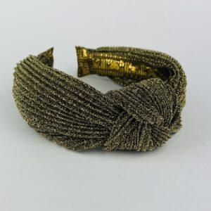 Lila Gold Sparkle Turban Headband