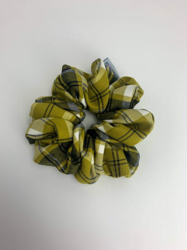 Lila Checked Scrunchie