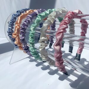 Lila Thin Ruffle Headbands