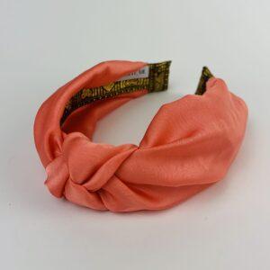 Lila Apricot Satin Turban Headband