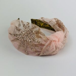 Lila Dusty Pink Mesh Turban Headband