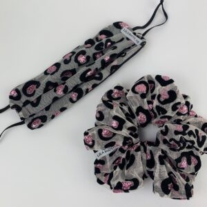 Lila Glitz Leopard Face Mask Set