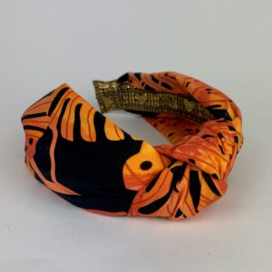 Lila Orange Palm Turban Headband