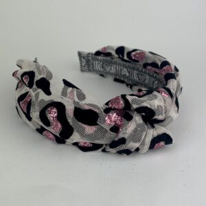 Lila Glitz Leopard Turban Headband