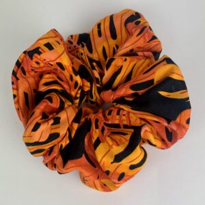 Lila Orange Palm Scrunchie