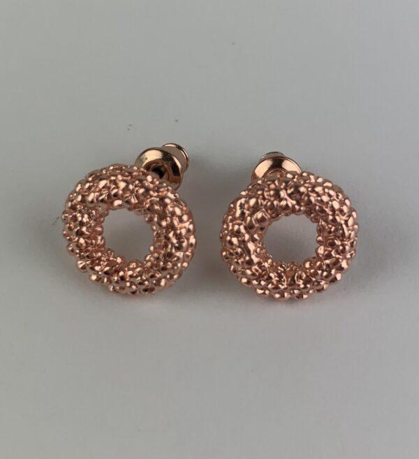 Lila Rose Gold Circle Earrings